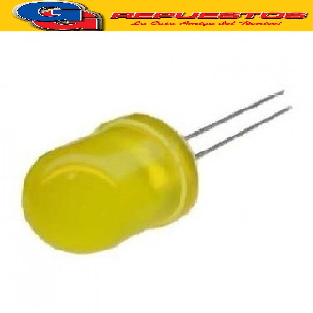 LED 10mm Standard AMARILLO 3V 3mcd 150º Difuso