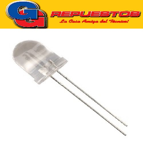 LED 10mm Alta Efic. AMARILLO 3V 150mcd 20º