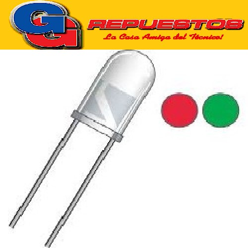 LED BICOLOR ROJO/VERDE 5mm  (2 PATAS)