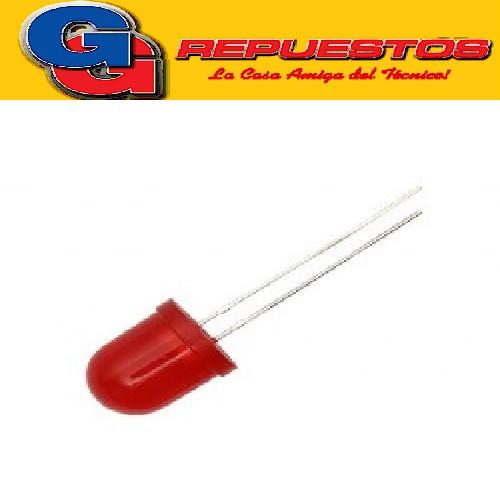 LED INTERMITENTE 10mm ROJO 3V 20mcd 120º Difuso