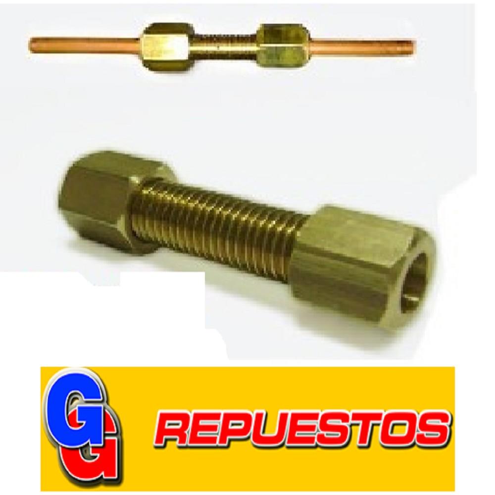 CONECTOR DE CAÑO 1/4 X 1/4 PARA NO SOLDAR.(M144) **