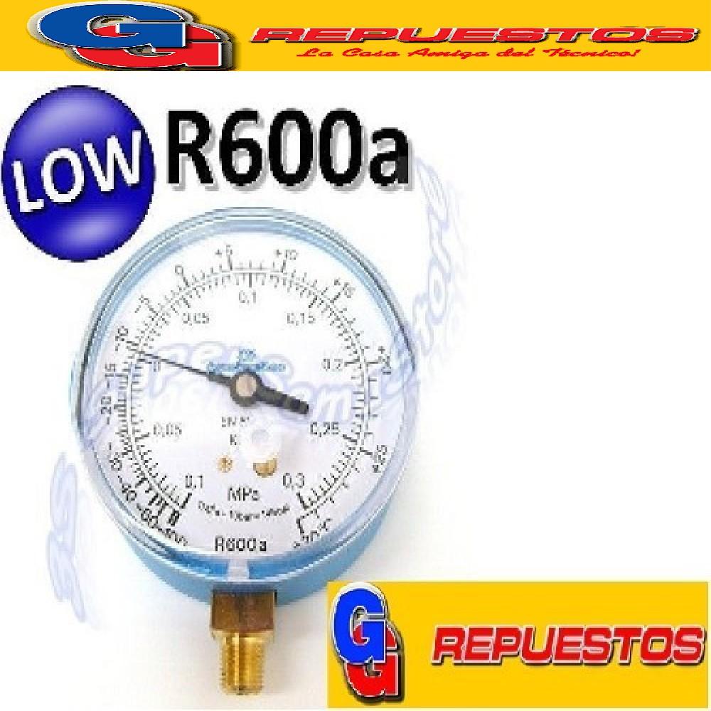 MANOMETRO DE BAJA R-600, 60 PSI MAXIMO , EL CERO ESTA EN EL LUGAR DEL 8 EN UN RELOJ