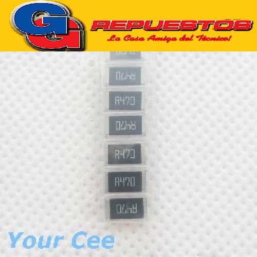 RESISTENCIA CHIP SMD (2512) 1W 5% 470E 470R