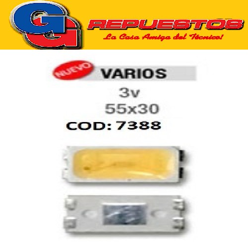 LED PANTALLA 3V 55X30 BACKLIGHT FRIO SAMSUNG