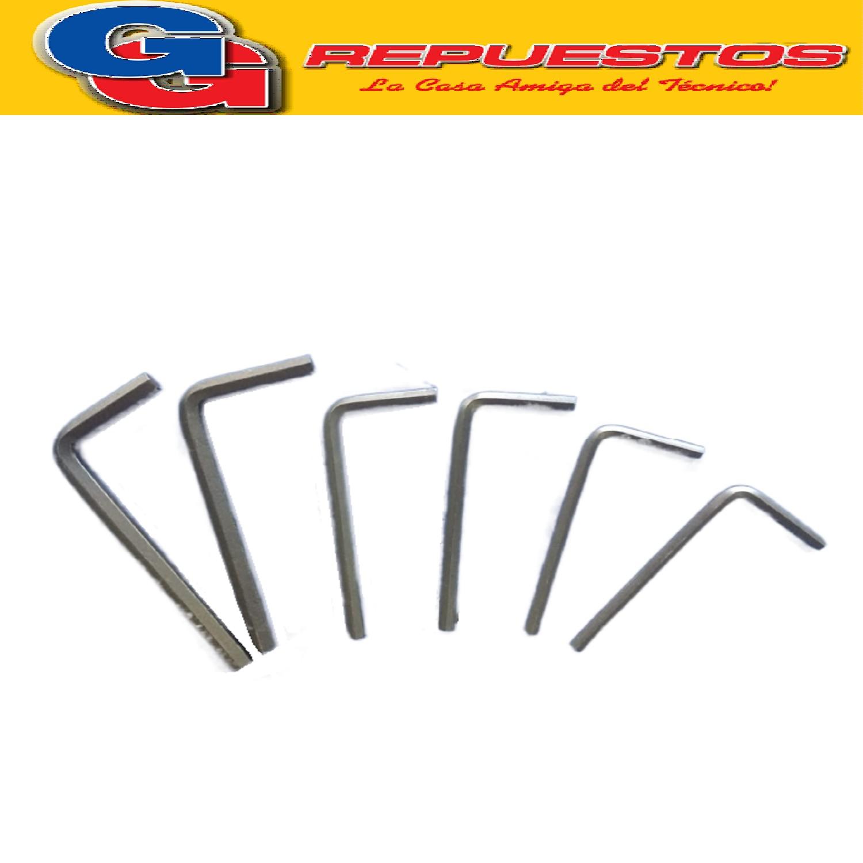 JUEGO DE LLAVES ALLEN SPLIT 4-5-6 MM - 5/32-3/16-1/4 PULG(M595)