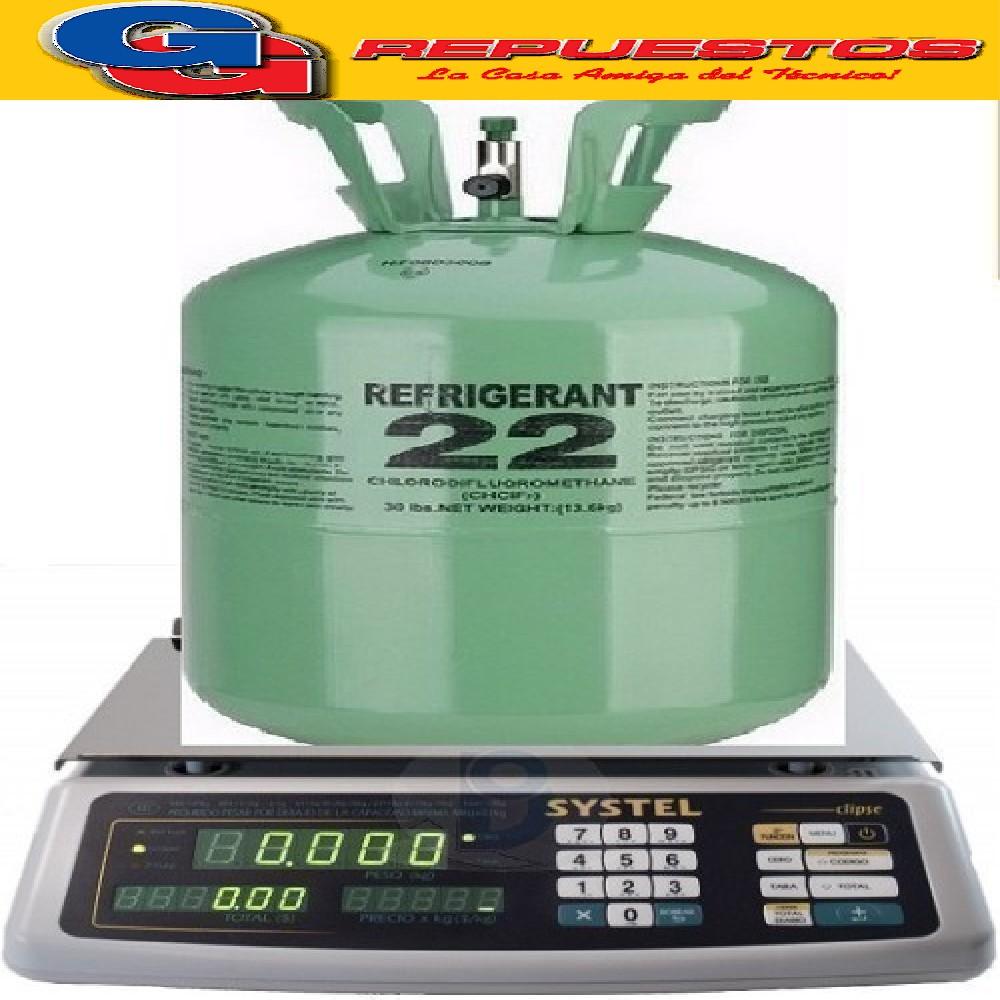 GAS R22 PURO X KG FRACCIONADO