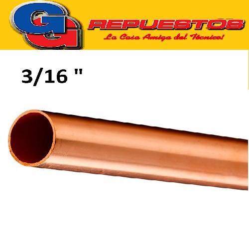 CAÑO DE COBRE 3/16 FRACCIONADO POR METRO PARED 0.8 mm ELUMA IMPORTADO
