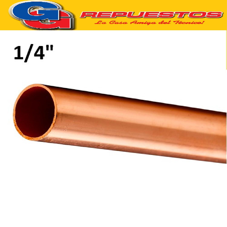 CAÑO DE COBRE 1/4  FRACCIONADO POR METRO PARED 0.8 mm ELUMA IMPORTADO