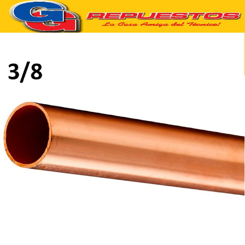 CAÑO DE COBRE 3/8 FRACCIONADO POR METRO PARED 0.8 mm ELUMA  IMPORTADO