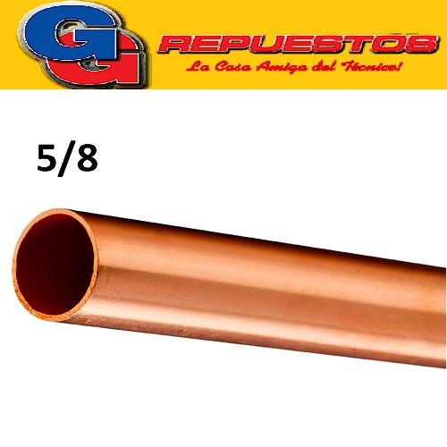 CAÑO DE COBRE 5/8 FRACCIONADO POR METRO PARED 0.8 mm ELUMA IMPORTADO