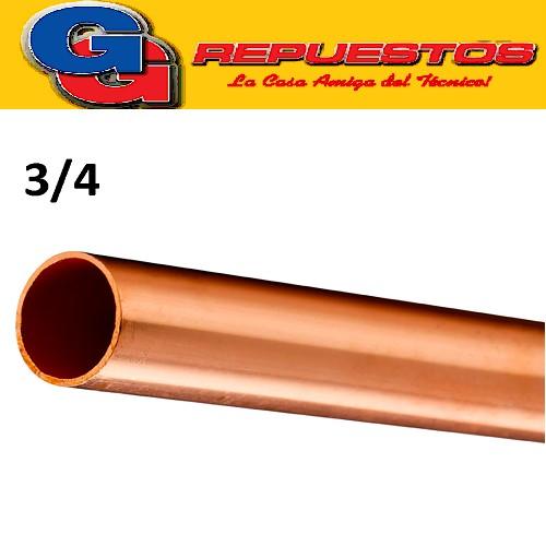CAÑO DE COBRE 3/4 FRACCIONADO POR METRO PARED 0.8 mm ELUMA IMPORTADO