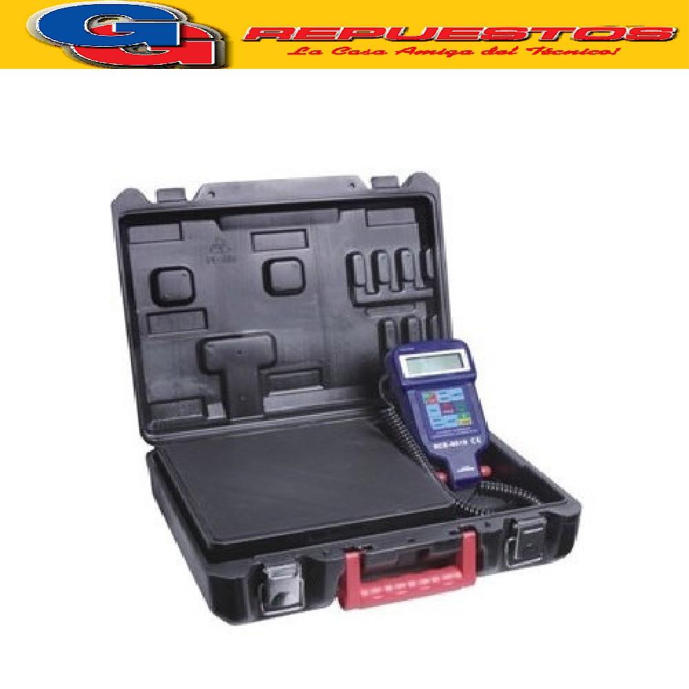 BALANZA DIGITAL PROGRAMABLE PARA CARGA DE REFRIGERANTE CON SOLENOIDE DE CORTE RCS-9020 CAPACIDAD 100KG RESOLUCION 5 GRS CON BATERIA AUTONOMIA 60HS