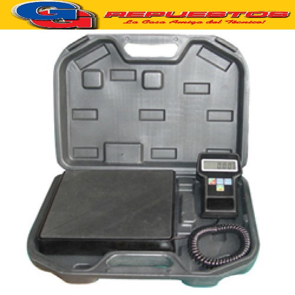 BALANZA DIGITAL PARA CARGA DE REFRIGERANTE RCS-7020 CAPACIDAD 100KG RESOLUCION 5 GRS CON BATERIA AUTONOMIA 60HS