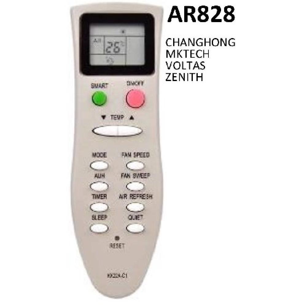 CONTROL REMOTO AIRE ACONDICIONADO SPLIT AR828 MKTECH ZENITH VOLTAS KK22A-C1