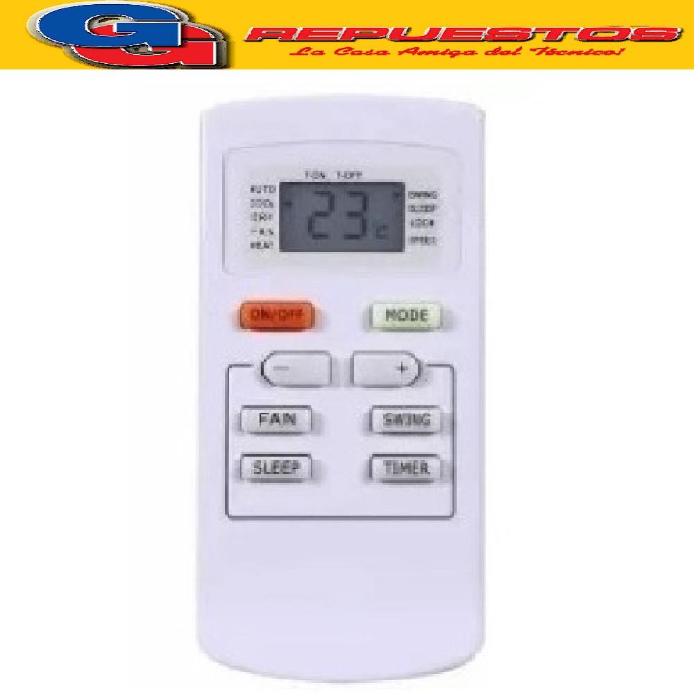 CONTROL REMOTO AIRE ACONDICIONADO SPLIT AR830 PHILCO SANYO NOBLEX SIGMA WHITE WESTINGHOUSE