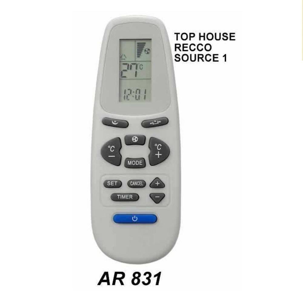 CONTROL REMOTO AIRE ACONDICIONADO SPLIT AR831//TOP HOUSE-RECCO-YORK.