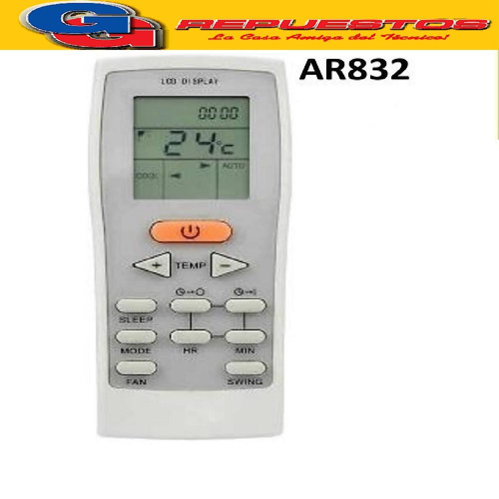 CONTROL REMOTO AIRE ACONDICIONADO SPLIT AR832 YORK BLUE STAR LUXAIRE