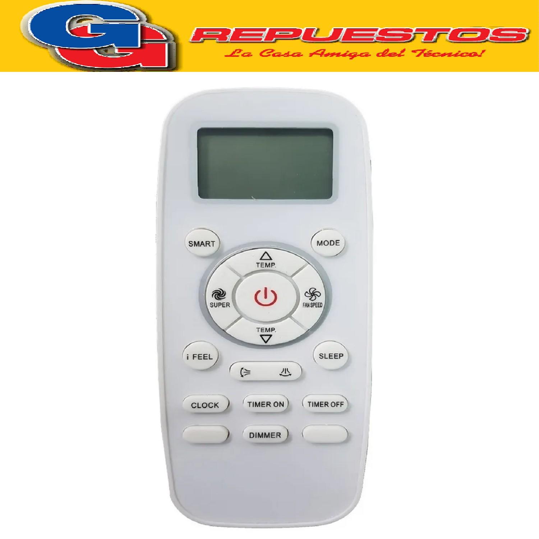 CONTROL REMOTO AIRE ACONDICIONADO SPLIT AR833 BGH HISENSE YORK A433 DG11L103