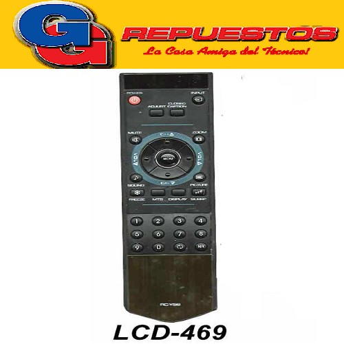 CONTROL REMOTO LCD LED ILO SANYO TOP HOUSE LCD469