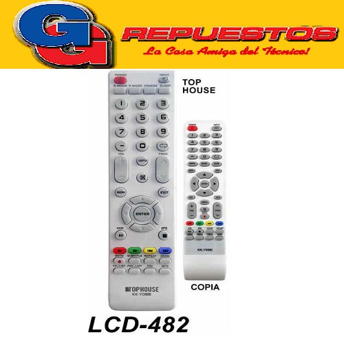 CONTROL REMOTO LED LCD TOP HOUSE L482