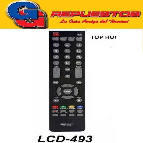 CONTROL REMOTO LCD LED TOP HOUSE L493 3849 R6849