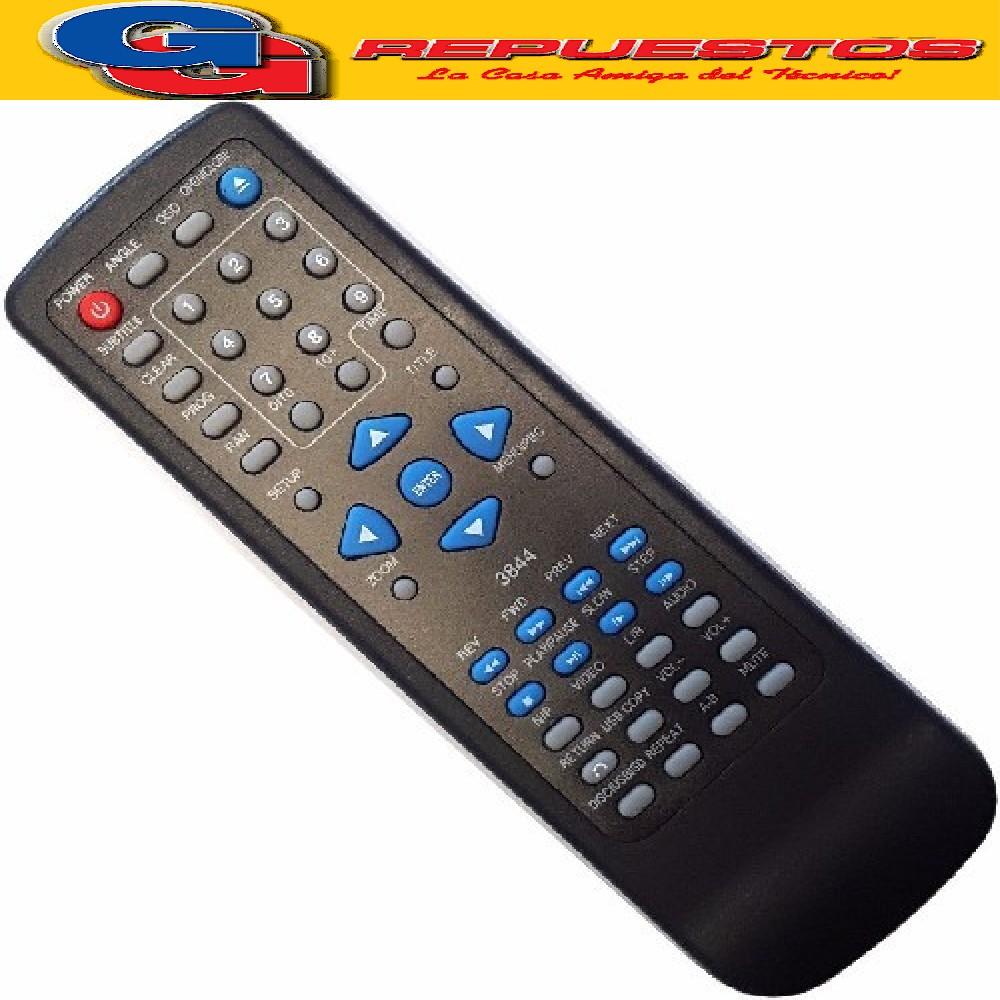 CONTROL REMOTO DVD HITOSHI 3844 R6844