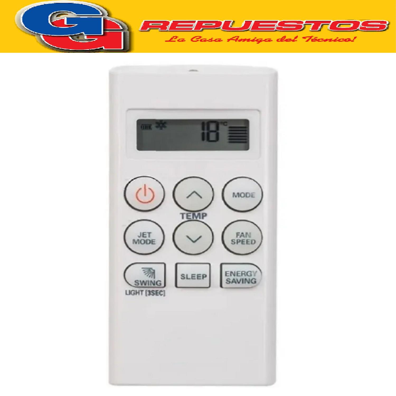 CONTROL REMOTO AIRE ACONDICIONADO SPLIT LG A420 FRIO SOLO AKB73756210