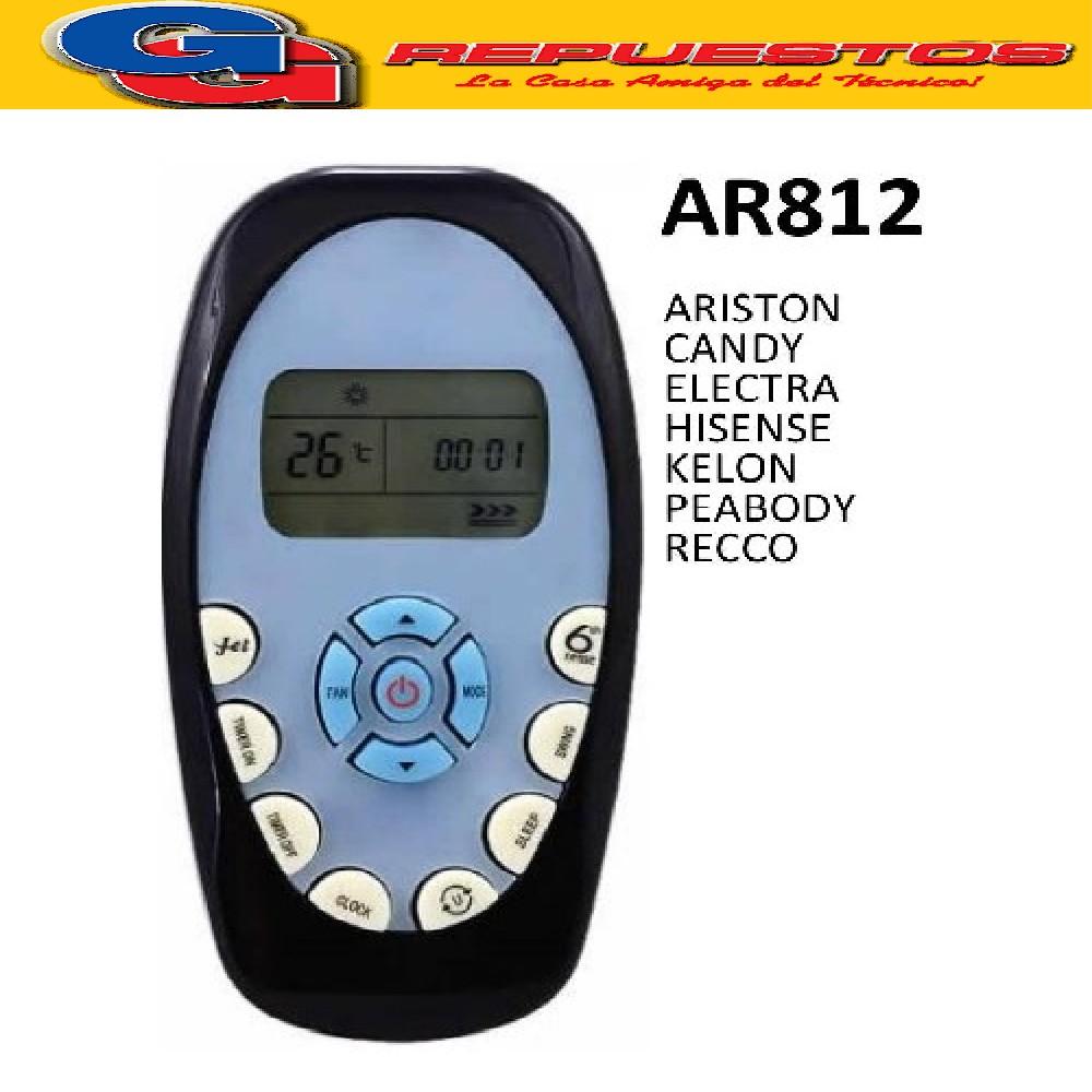 CONTROL REMOTO AIRE ACONDICIONADO SPLIT A422 ELEKTRA CANDY