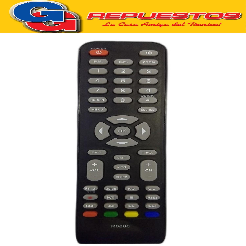 CONTROL REMOTO LED NOBLEX-JVC 3D 3866 TONOMAC  ADMIRAL =3851=3805=3589=R6805=R6589= 440LCD=3842 ADMIRAL