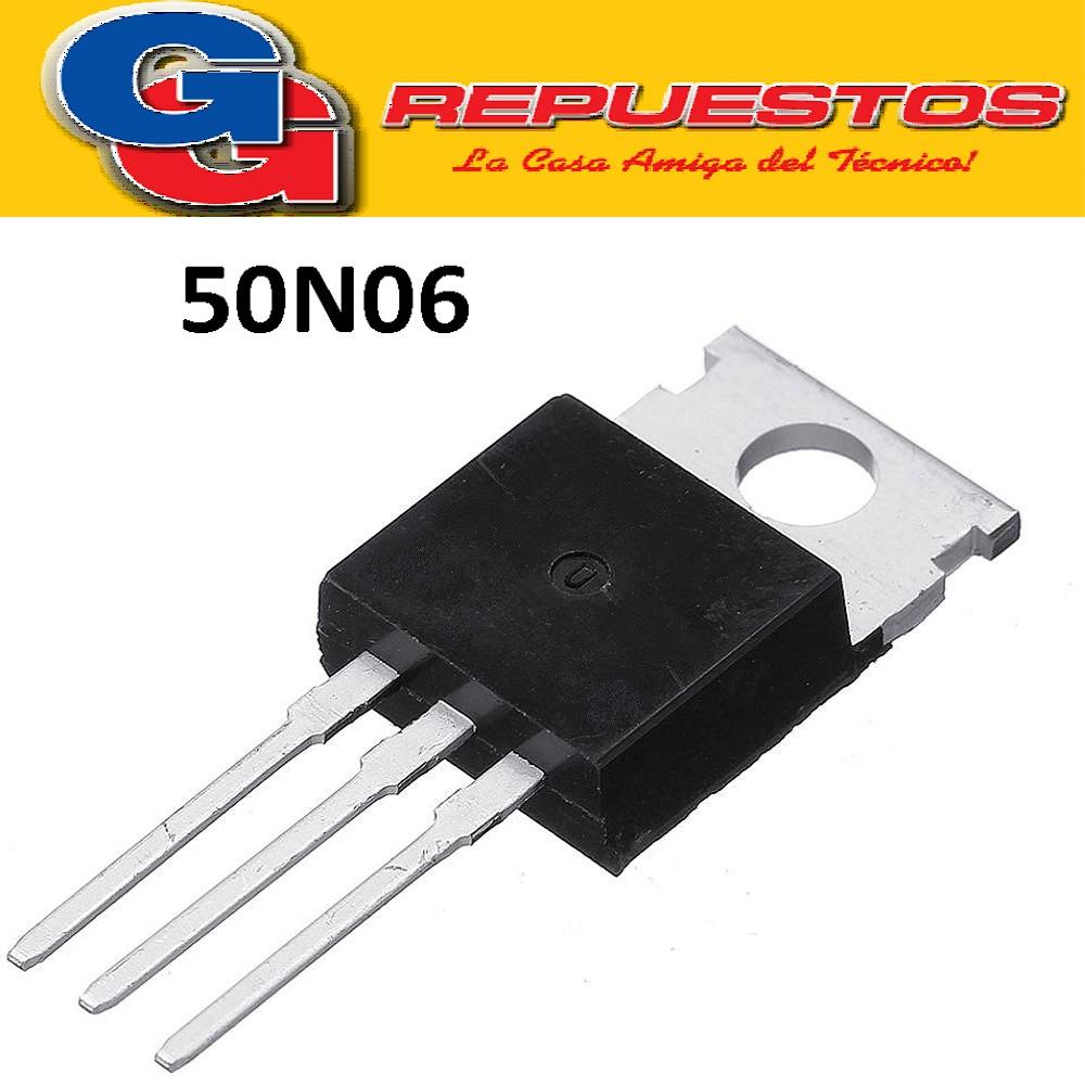 50N06 TRANSISTOR FET N (50A/60V/135W/0.022ohm) TO-220M