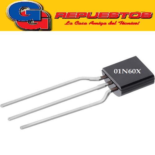 CMT01N60XN92 TANSISTOR FET CANAL N (30V/1A/3W/11ohms) TO-92