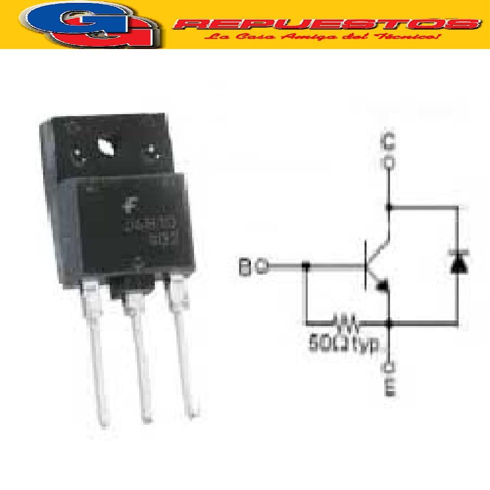 TRANSISTOR FJAF6810 / TO-3PF Silicon NPN High Voltage, TV, 750V 10A, 60W Horizontal Deflection J6810