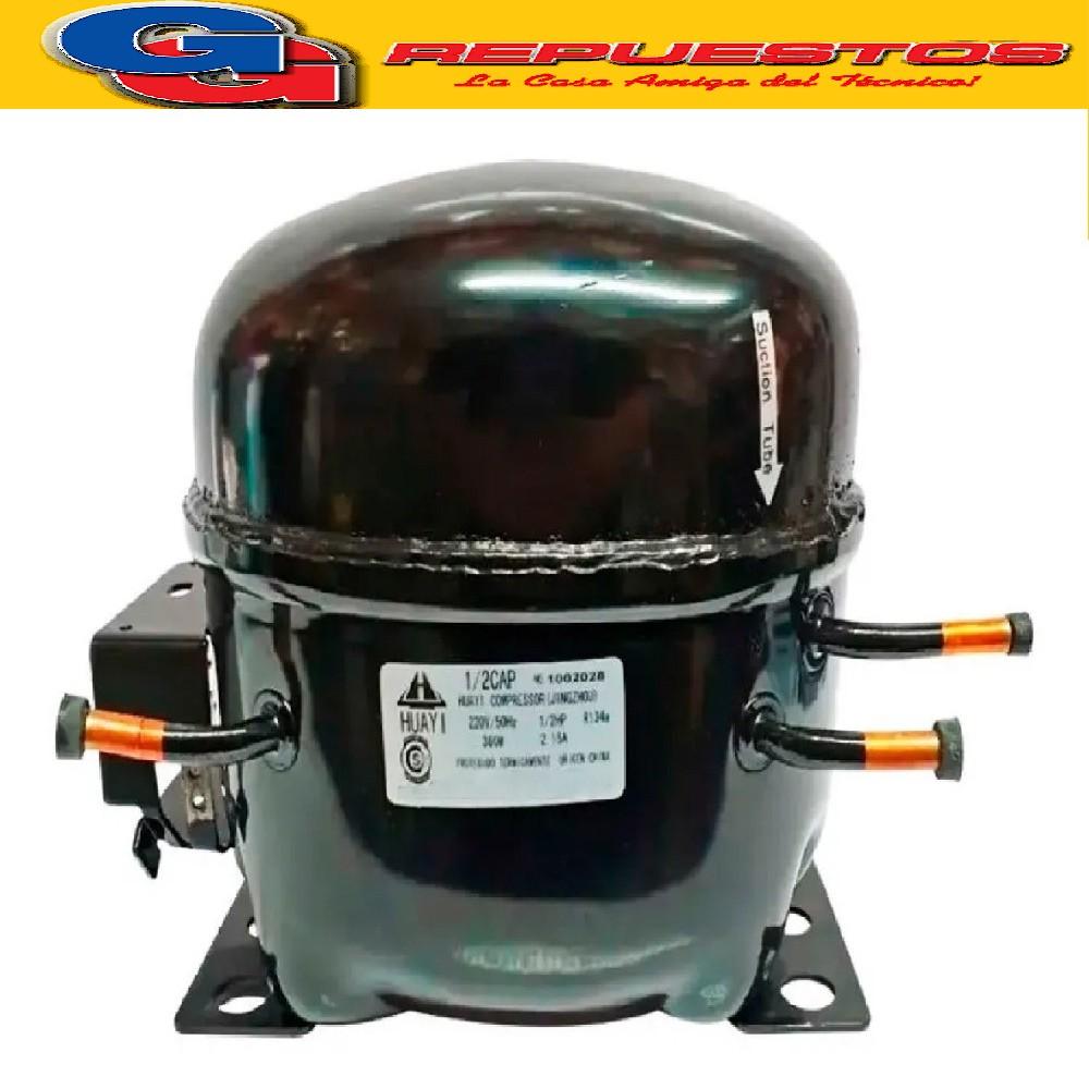 MOTOCOMPRESOR HUAYI 1/2 HP C/Capacitor DUAL R12 R134 BLEND 360fr