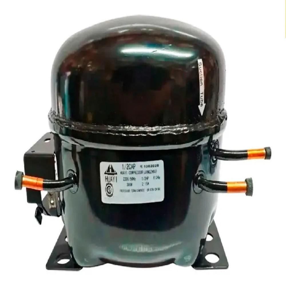 MOTOCOMPRESOR HUAYI 1/2 HP C/Capacitor DUAL R12 R134 BLEND