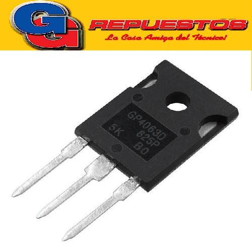 IRGP4063DPBF TRANSISTOR BIPOLAR DE PUERTA AISLADA -IGBT- CANAL N (600V/330W/96A) TO247