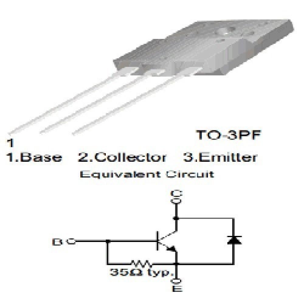 TRANSISTOR FJAF 6810D Silicon NPN High Voltage, Hor. Deflection, TV, 750(1500)V 10A