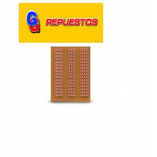 PLAQUETA EXPERIMENTAL MODELO CIAM4:PASO INTEGRADO 5X5 CM PERFORADA