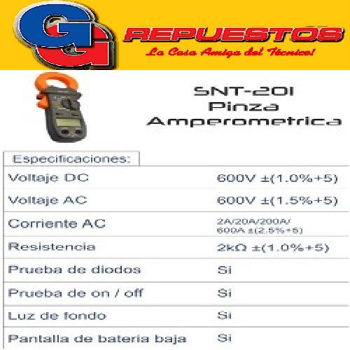 PINZA AMPEROMETRICA CSNT-201 PROFESIONAL ALTA CALIDAD CON GARANTIA