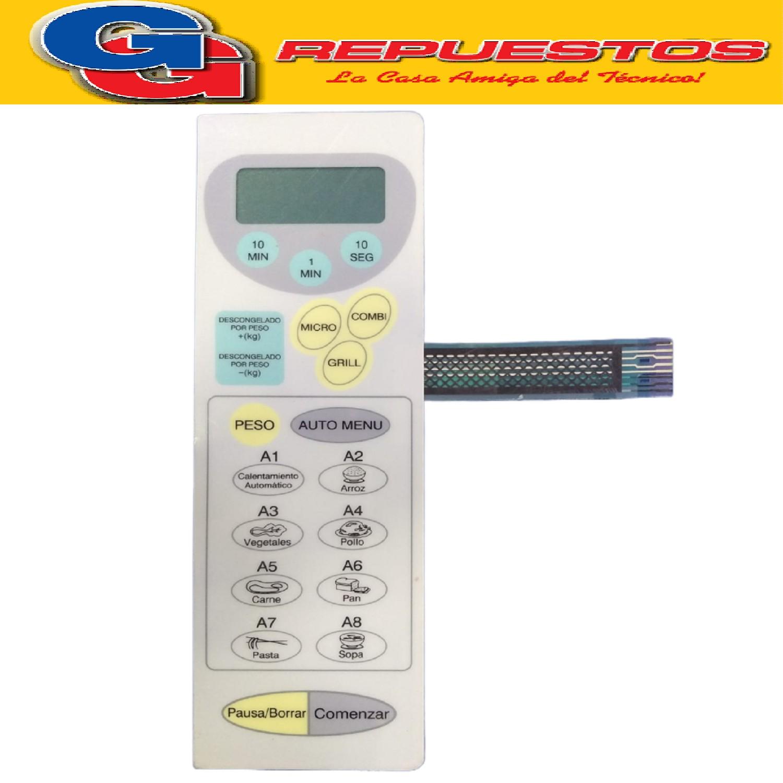 TECLADO MICROONDAS MD130 LUXMAN EG8525