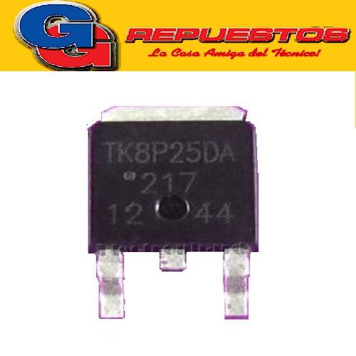 TK8P25DA TRANSISTOR MOSFET CANAL N -SMD- (250V/7.5A/55W/0.55 ohms)