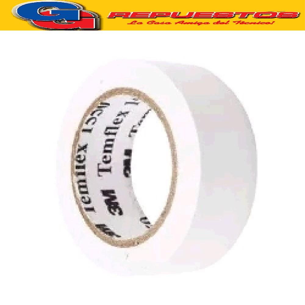 CINTA AISLADORA 3M TEMFLEX 1550 BLANCA 20 MTS