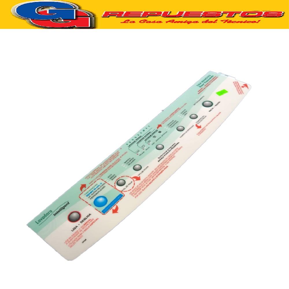 PANEL SERIGRAFIADO LAVARROPAS ESLABÓN DE LUJO EWT09A EWT24A(PANEL DECORATIVO en PORTUGUES) ETIQUETA de 48 cm de largo  TECLADO Cod.Origen: 326050585 (WHIRLPOOL) Produttore: Brasil CP 559/ CP559 (7210009) Alado (7220618)