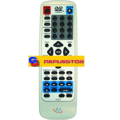 CONTROL REMOTO DVD RCA 3123