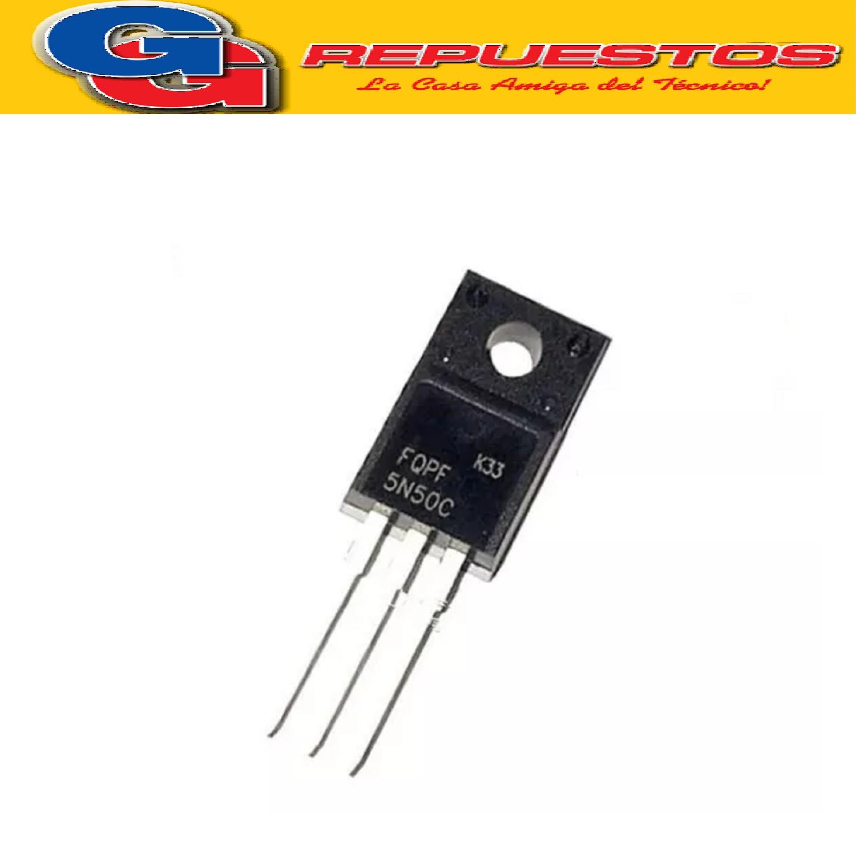 FQPF5N50 TRANSISTOR FET (500V/5A/1.4ohms/15nC)