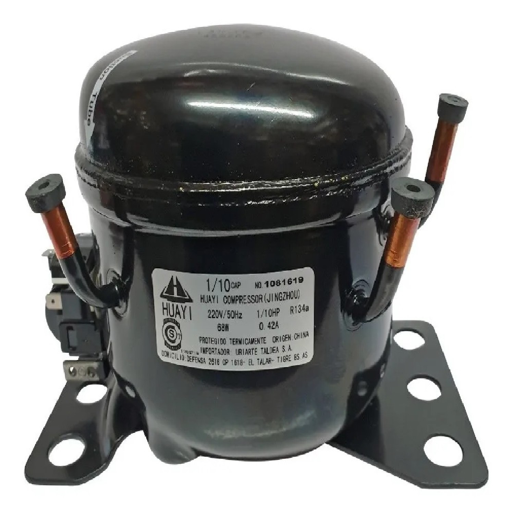 MOTOCOMPRESOR HUAYI 1/10 HP+ C/CAP R134 BLEND R12 L31HYBU