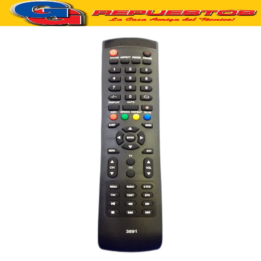 CONTROL REMOTO TV LED KANJI 480 SMART AURORA