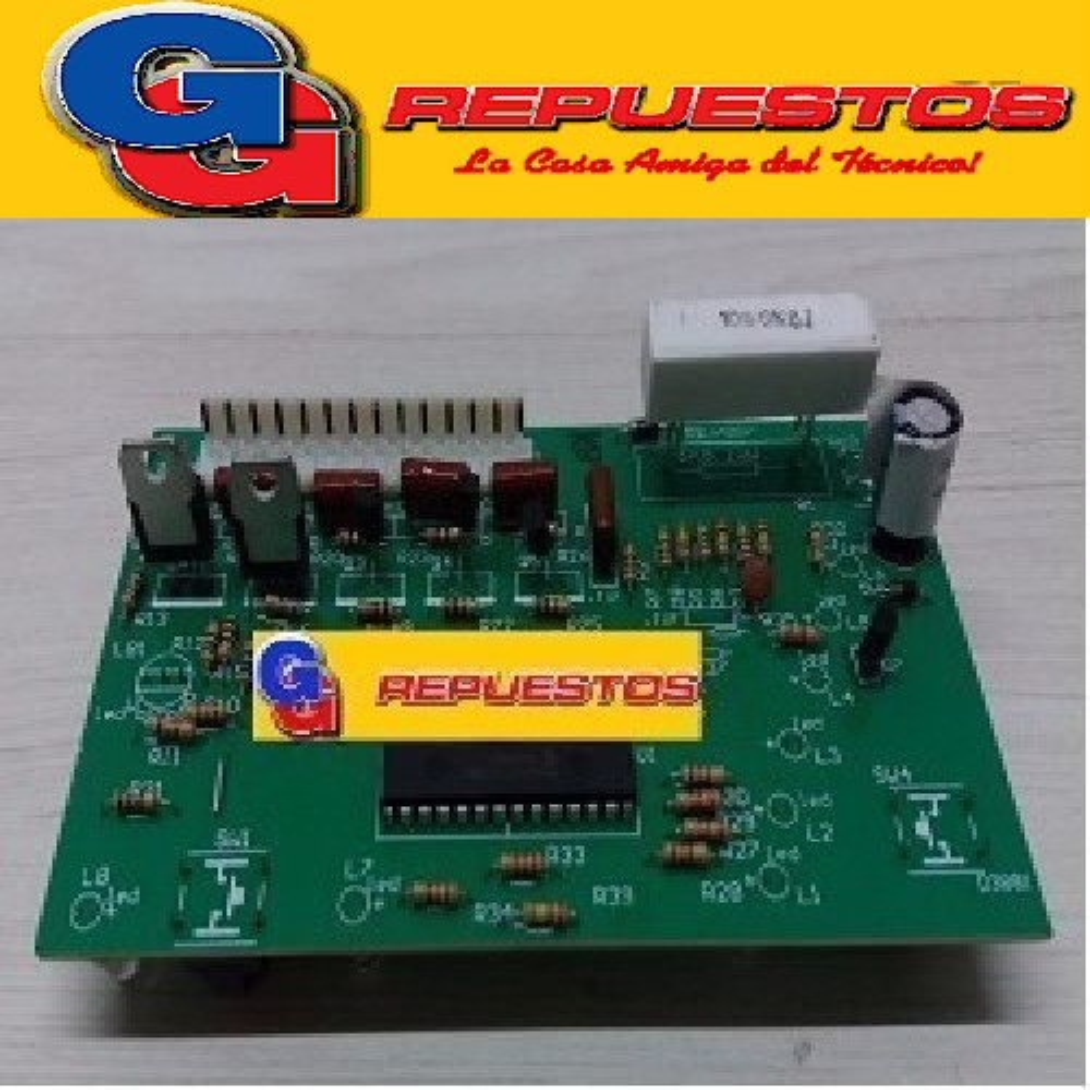 PLAQUETA LAVARROPAS DREAN CONCEPT ELECTRONIC 156 (LED CON PINES) BOTONES ALTOS TIPO MC