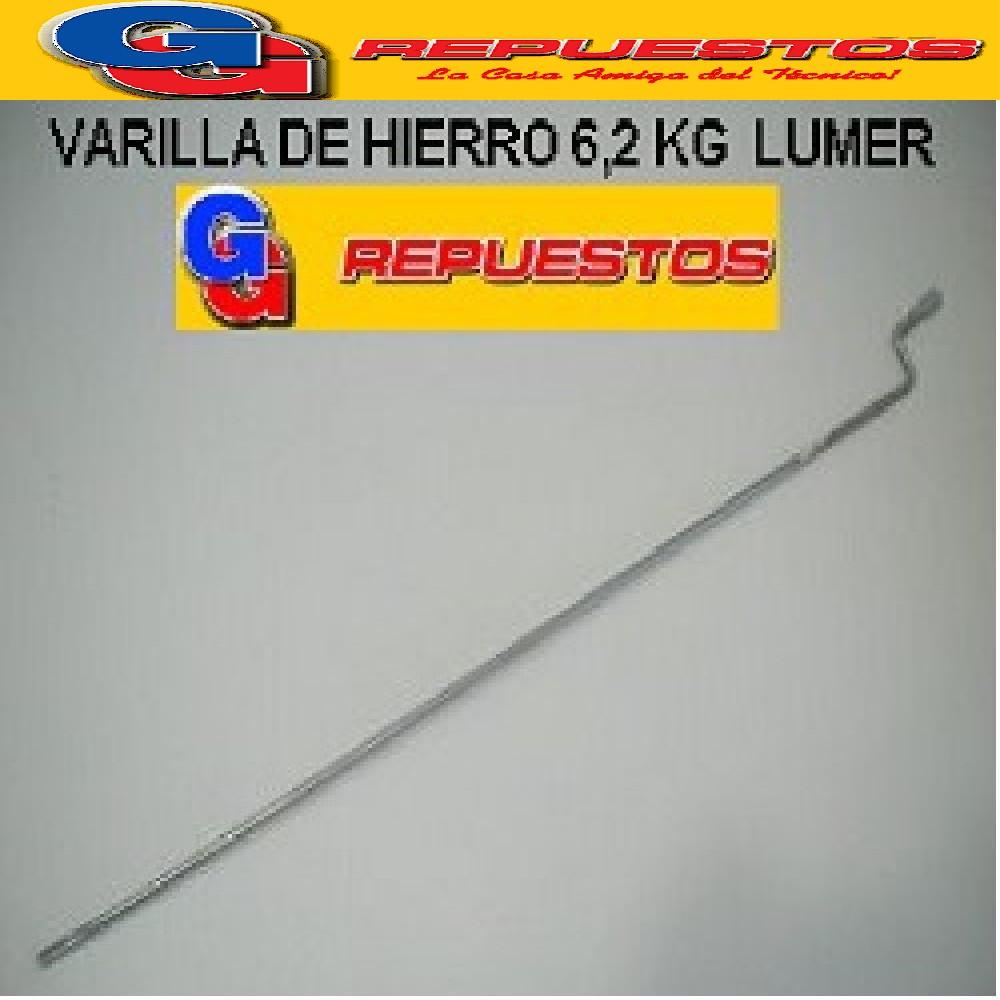 VARILLA HIERRO 6.2 KG SECARROPA PEABODY STANDAR ELECTRIC LUMER COVENTRY SCB 6100 LARGO TOTAL 56.5 CM