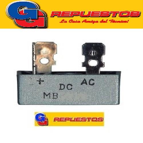 MB1510/KBPC1510 PUENTE RECTIFICADOR DIODOS 15A 1000V   TIPO MESA (PALA)
