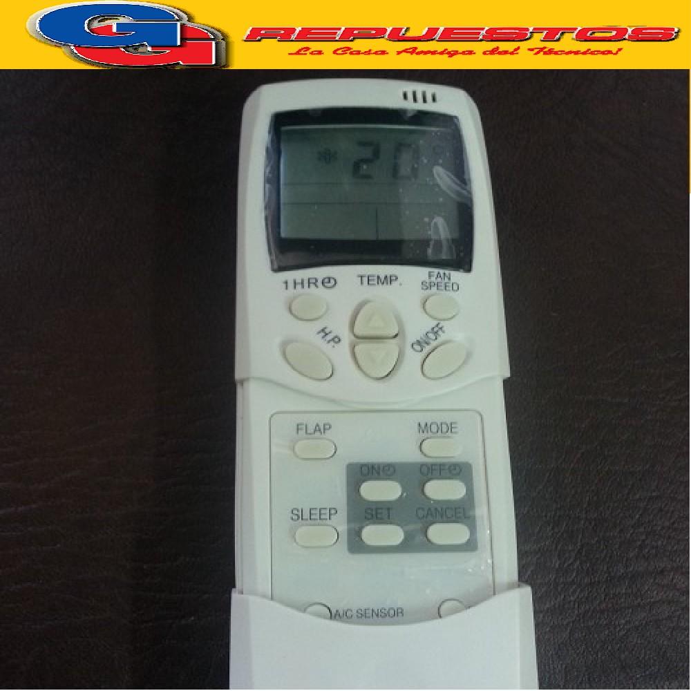 CONTROL REMOTO AIRE ACONDICIONADO [[FRIO / CALOR]](WHITE WESTINGHOUSE / ELECTROLUX / LG /  SIGMA / BGH) RCH-28NE